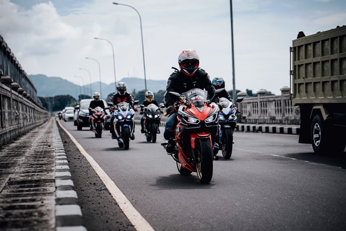 On the Road with Motorcycles Bali