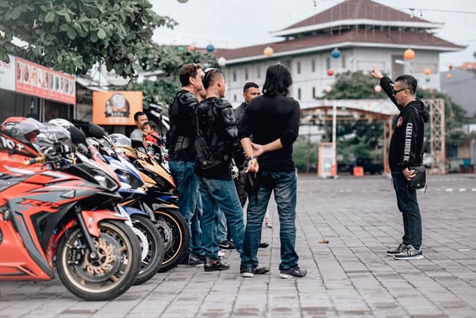 Tours with Sportbikes Bali Instruction